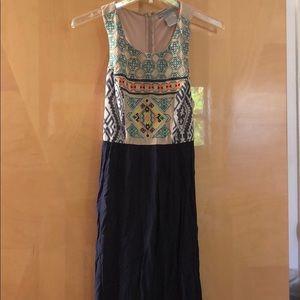 Flying Tomato Aztec Print Maxi Dress Size S